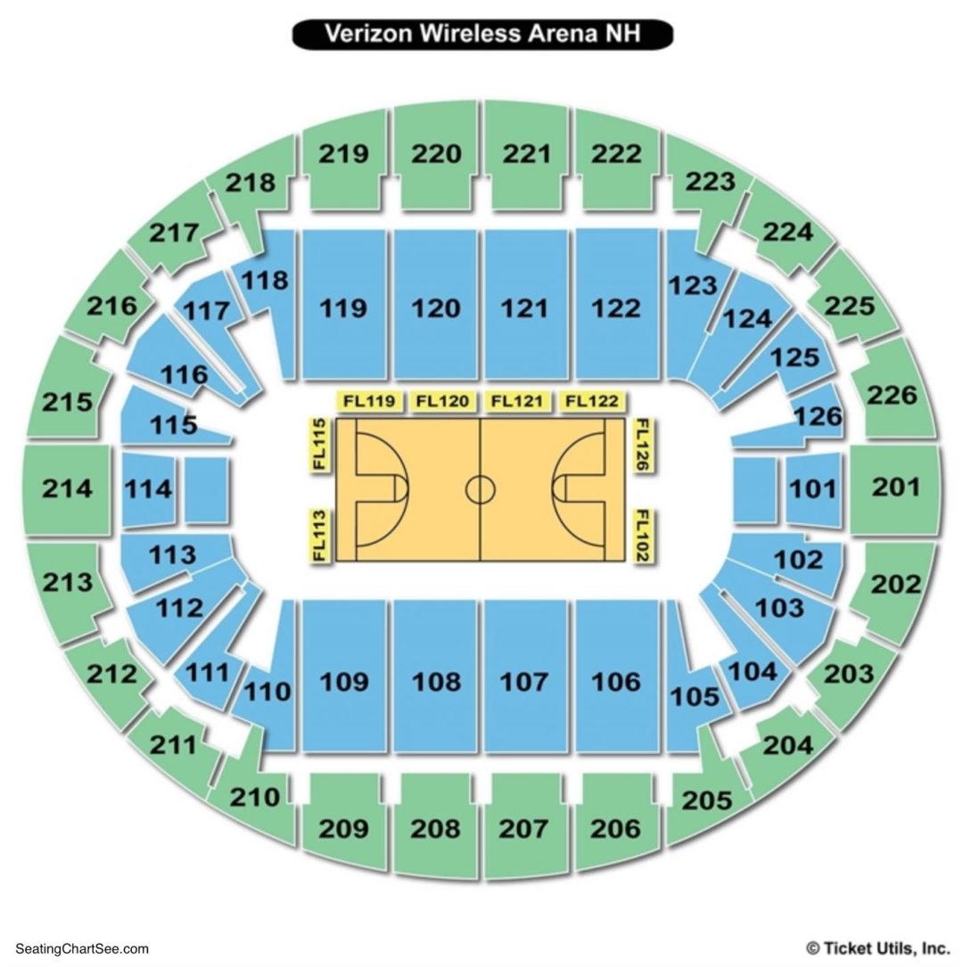 Snhu Arena Basketball Seating Chart