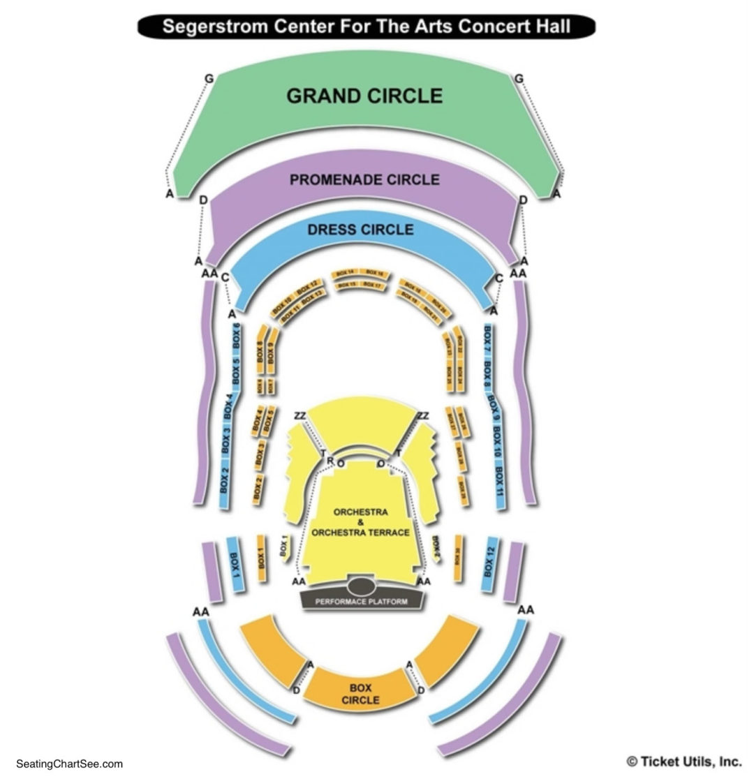Renee and henry segerstrom concert hall seating chart seating