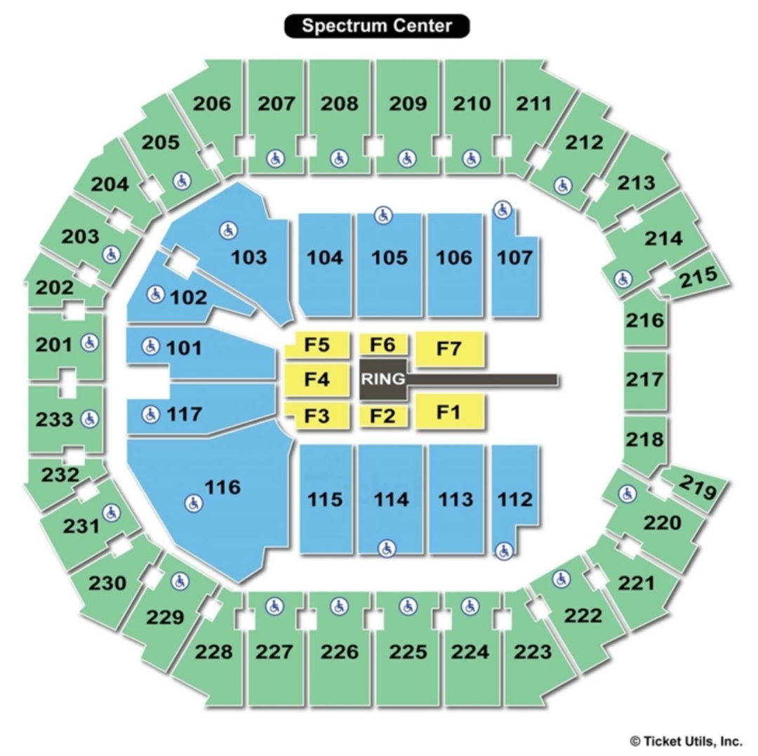 Spectrum Center Wwe Seating Chart