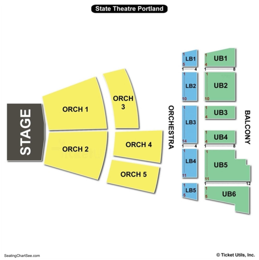 State theatre portland seating chart seating charts tickets