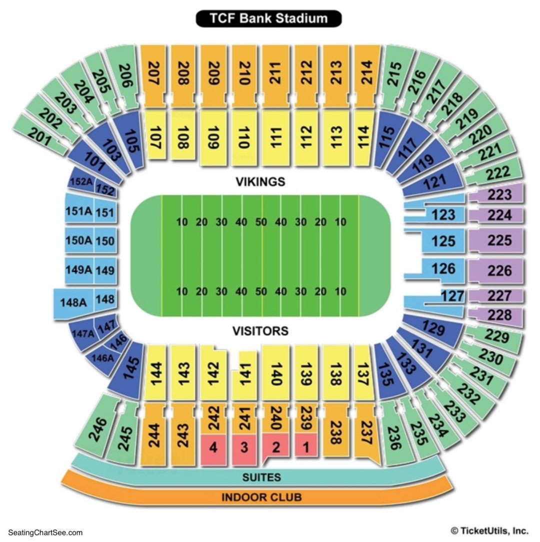 Tcf Bank Stadium Seating Chart Football