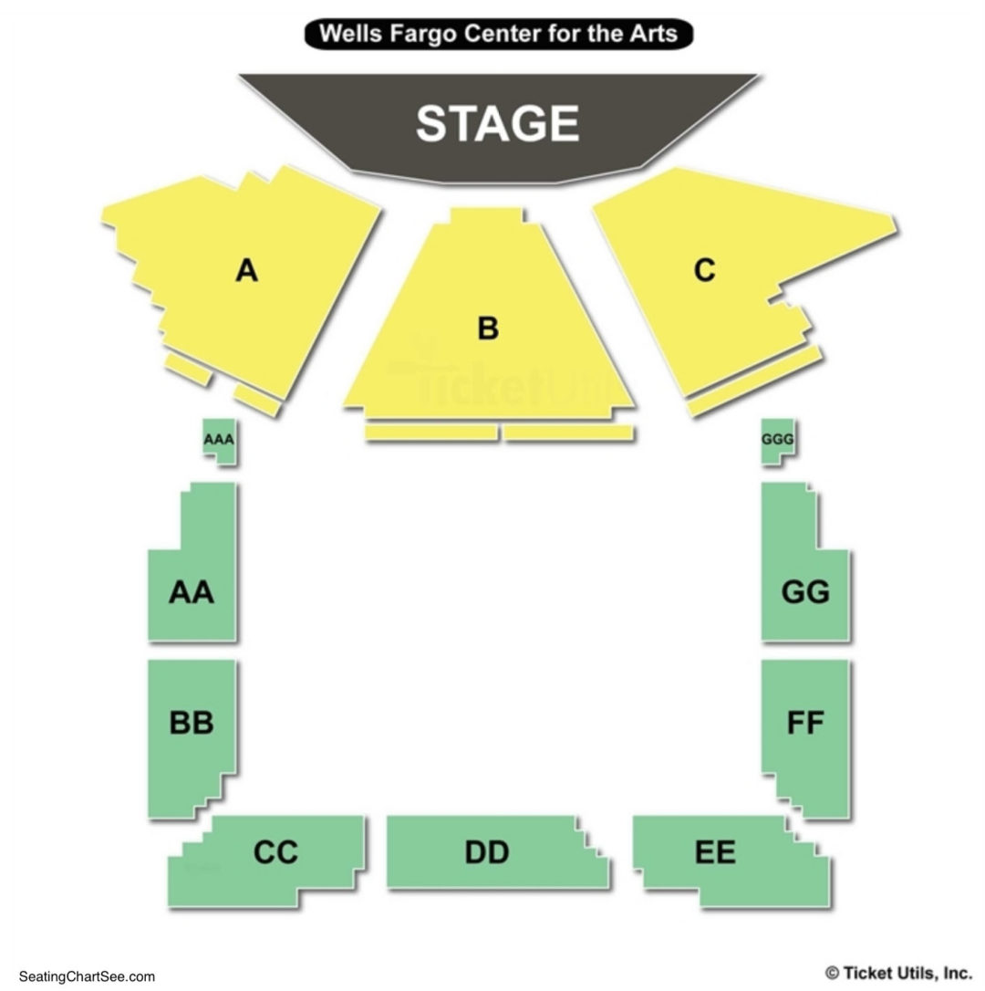 The Luther Burbank Center For The Arts Seating Chart