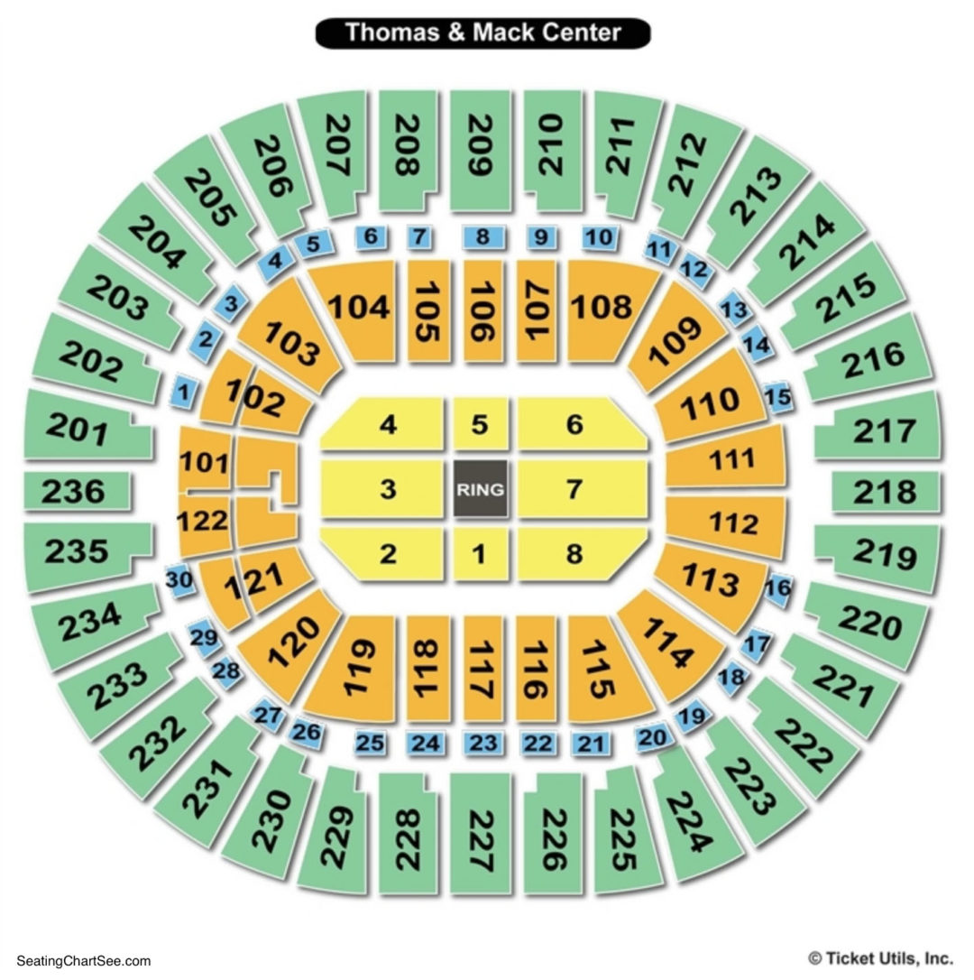 Thomas mack center seating chart seating charts tickets