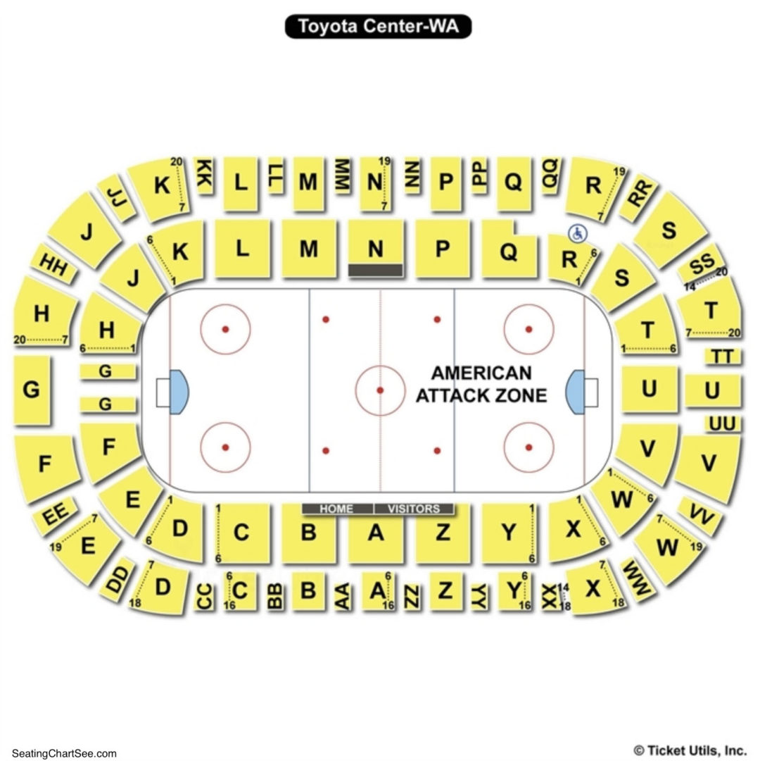 Tri Cities Toyota Center Seating Chart