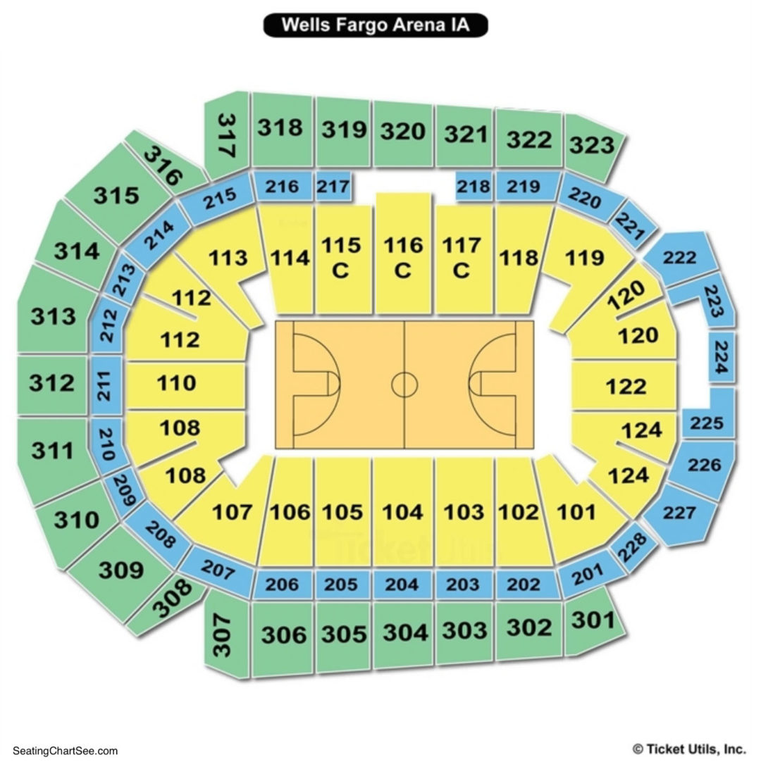 Wells fargo arena des moines seating chart seating charts tickets