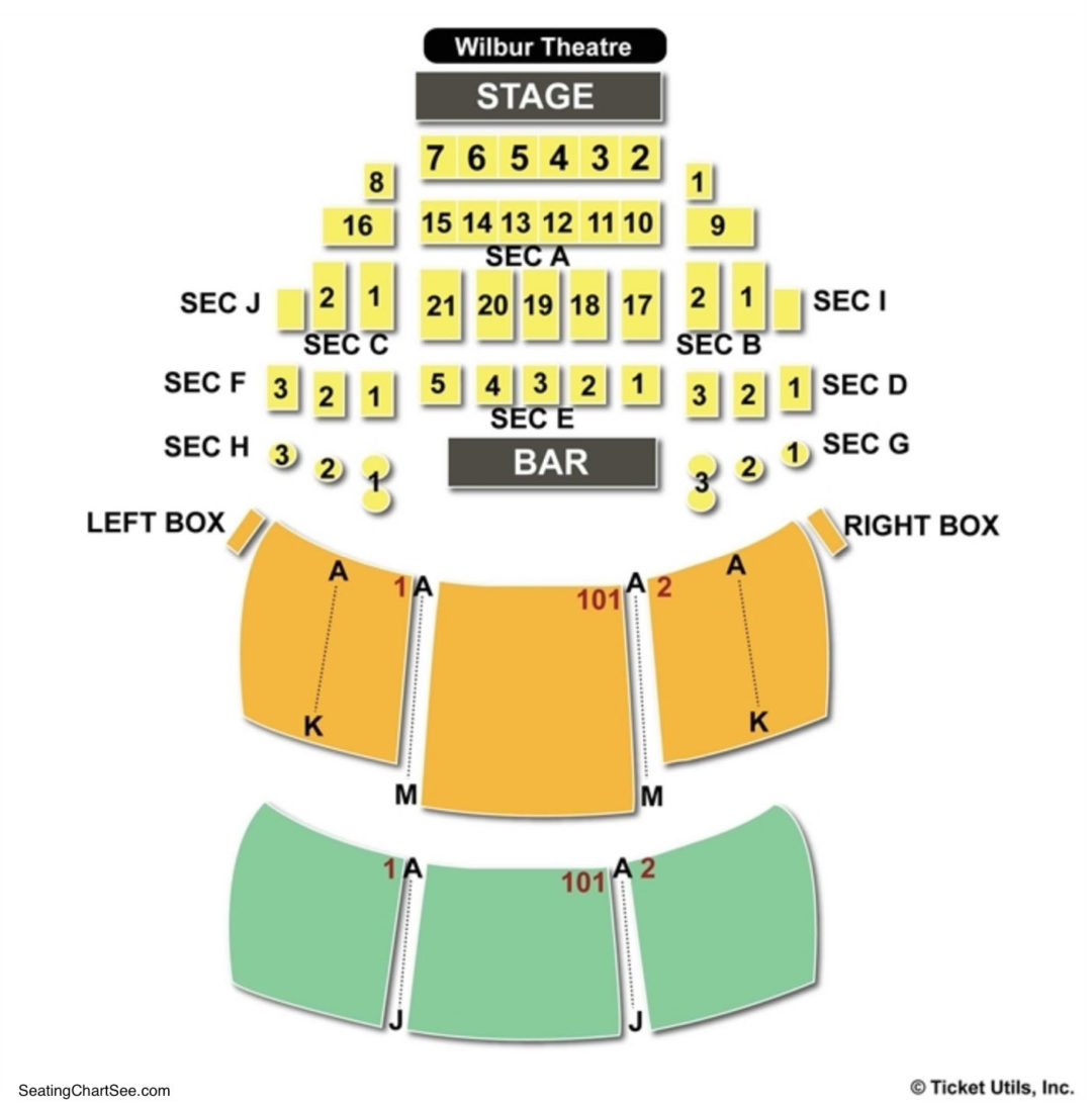 Wilbur Theater Seating Chart