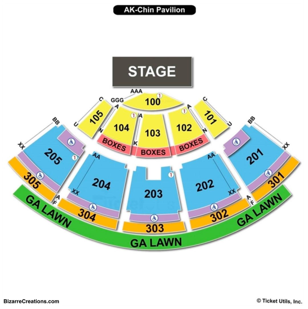 Ak chin pavilion seating chart seating charts tickets