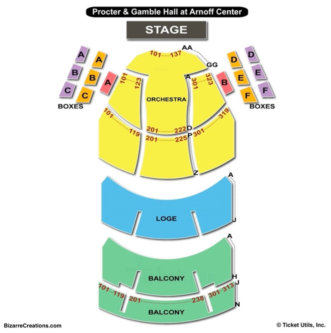 Aronoff center for the arts seating chart seating charts tickets