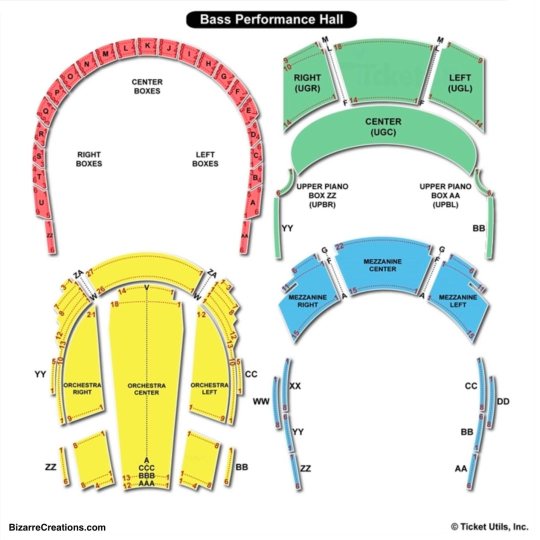 Bass performance hall seating chart seating charts tickets