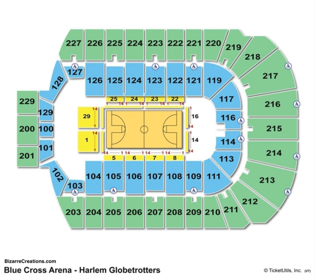 Blue Cross Arena Seating Chart Basketball