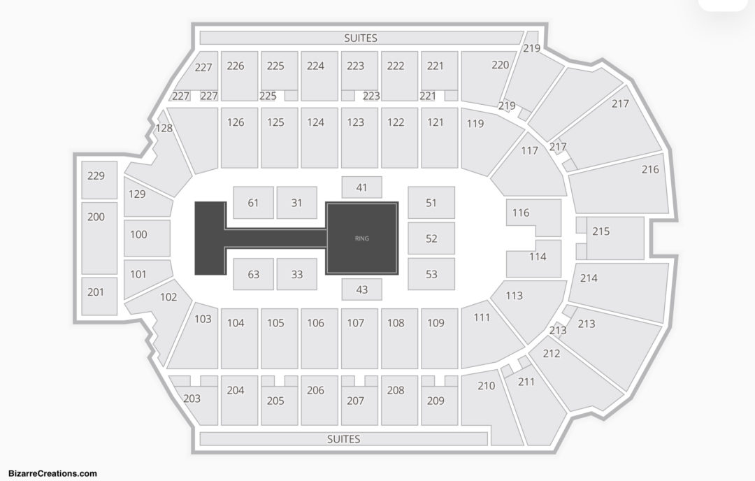 Blue Cross Arena Seating Chart Wwe