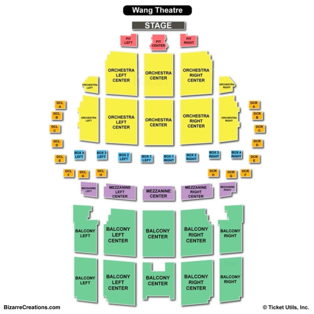 Boch center wang theatre seating chart seating charts tickets