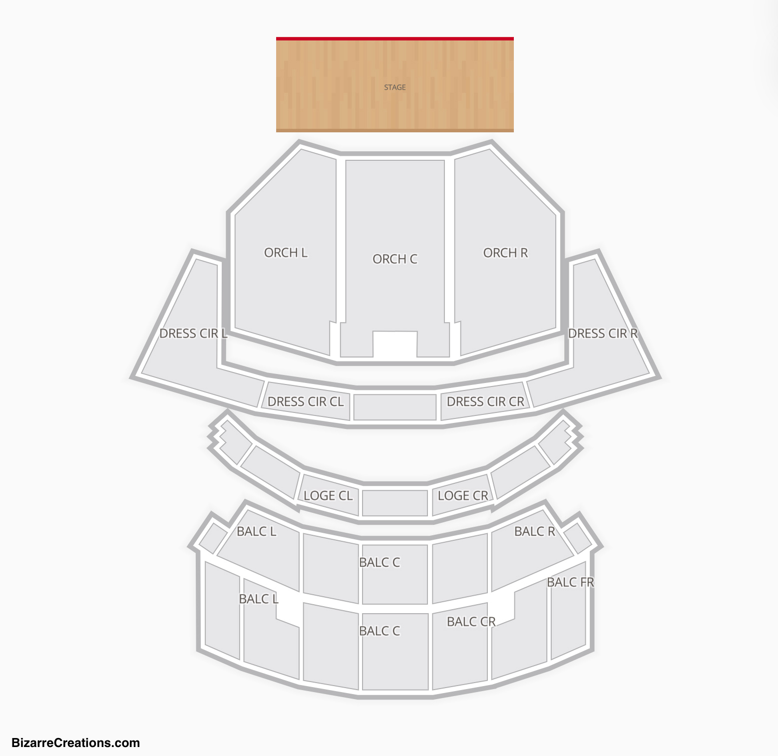 Cadillac Palace Theatre Seating Chart Seating Charts Tickets