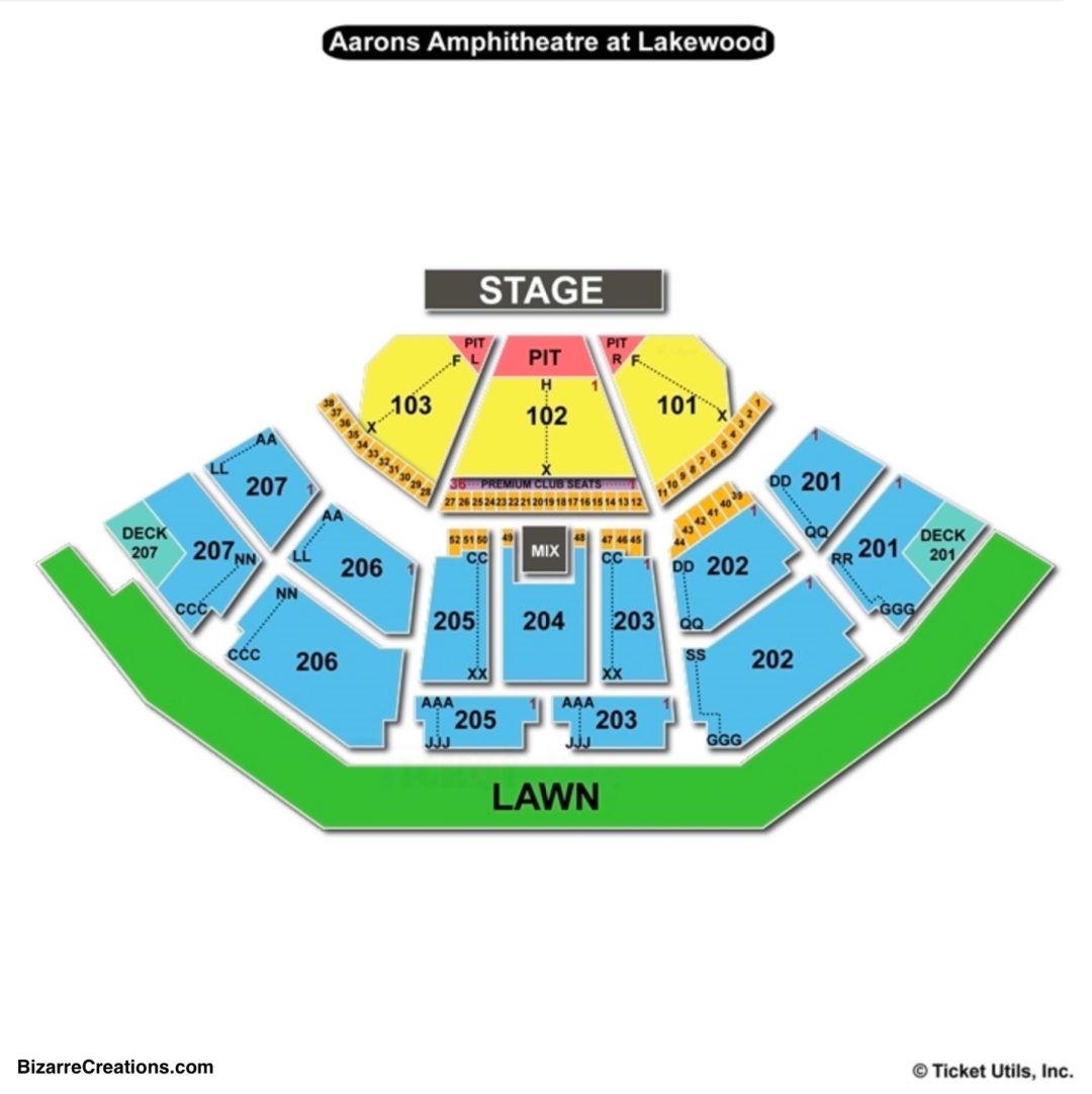 Lakewood amphitheatre seating chart seating charts tickets