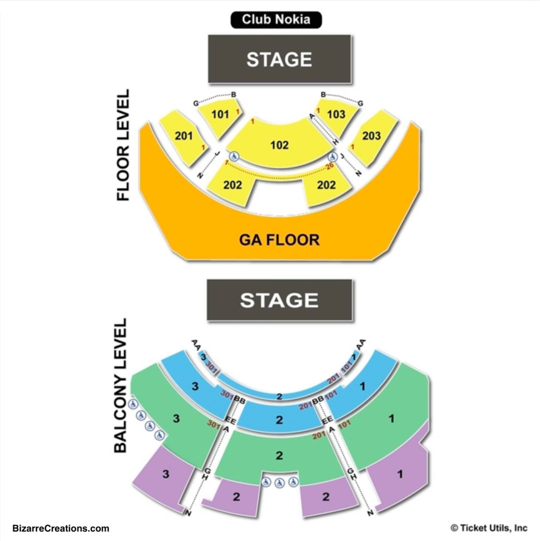 The novo seating chart seating charts tickets