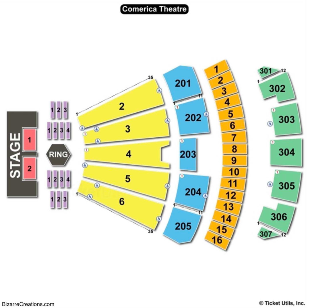Comerica Theatre Seating Chart Fighting
