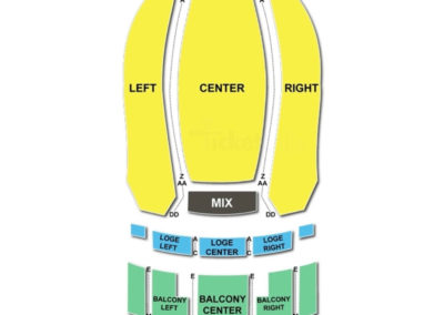 Count Basie Theatre Seating Chart Concert