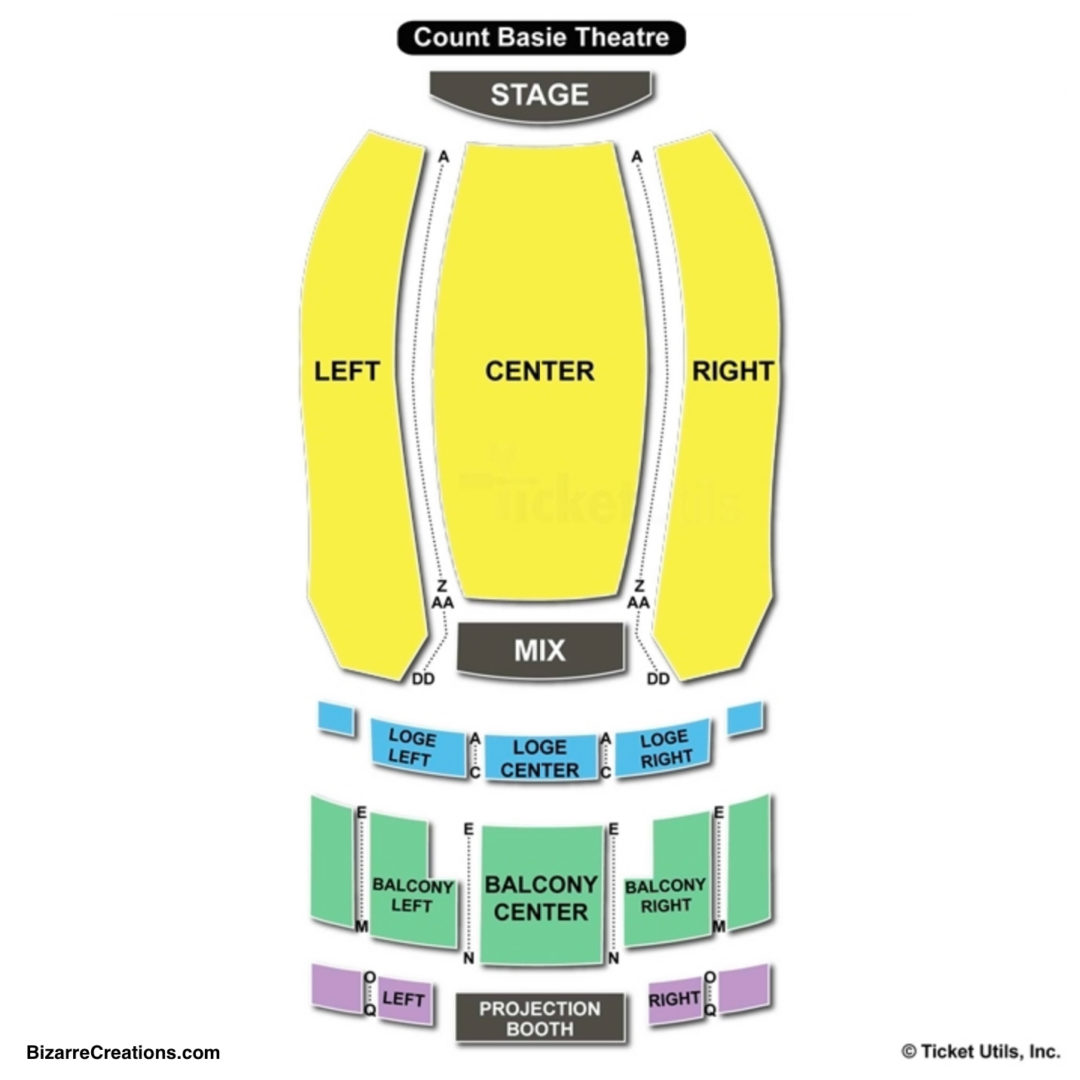 Count basie theatre seating chart seating charts tickets