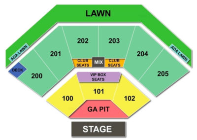 Dos Equis Pavilion Seating Chart Seating Charts Tickets