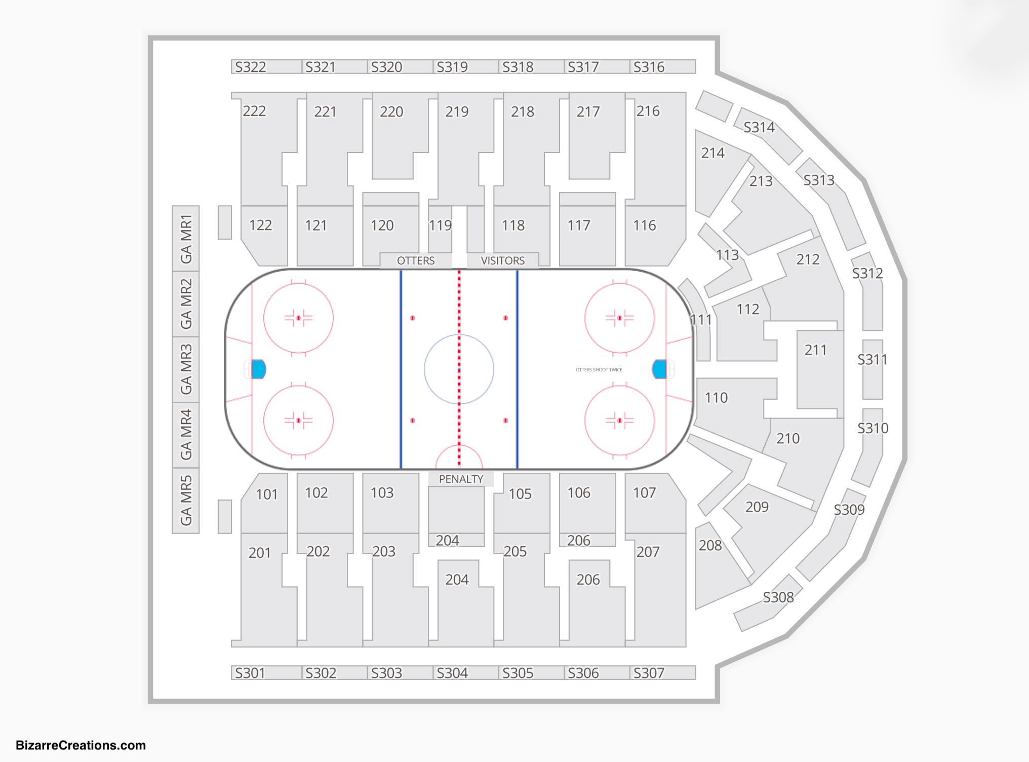 Erie Insurance Arena Hockey Seating Chart