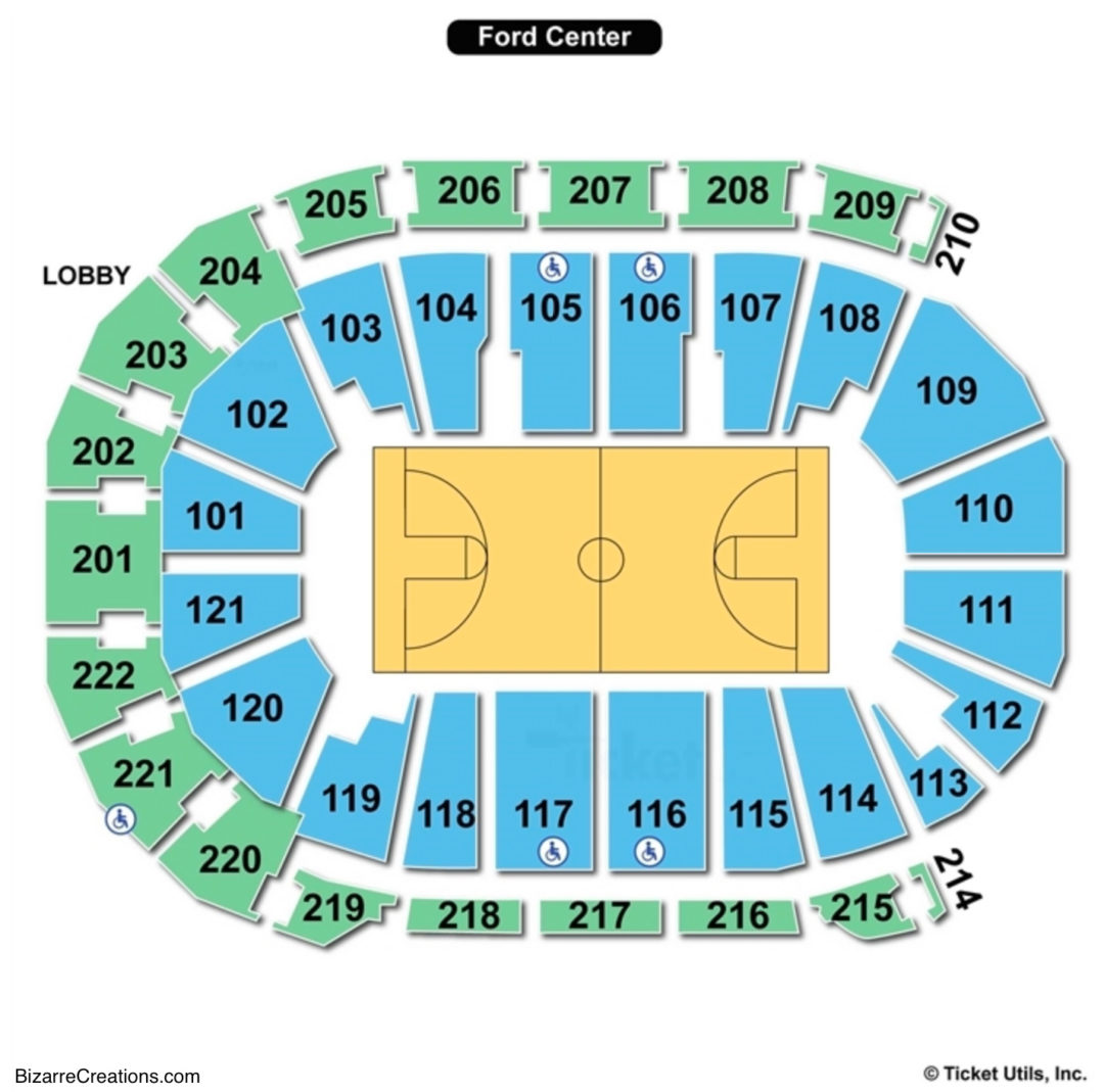 Ford center seating chart seating charts tickets