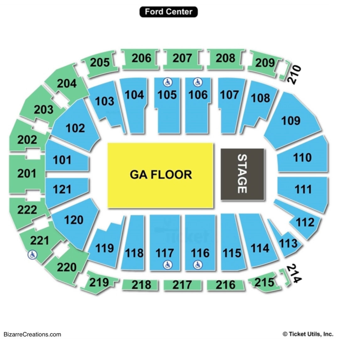 Ford Center Seating Chart Seating Charts Amp Tickets