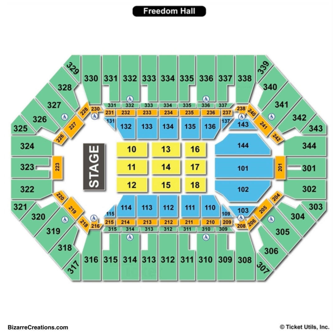 Freedom Hall Seating Chart Seating Charts Tickets