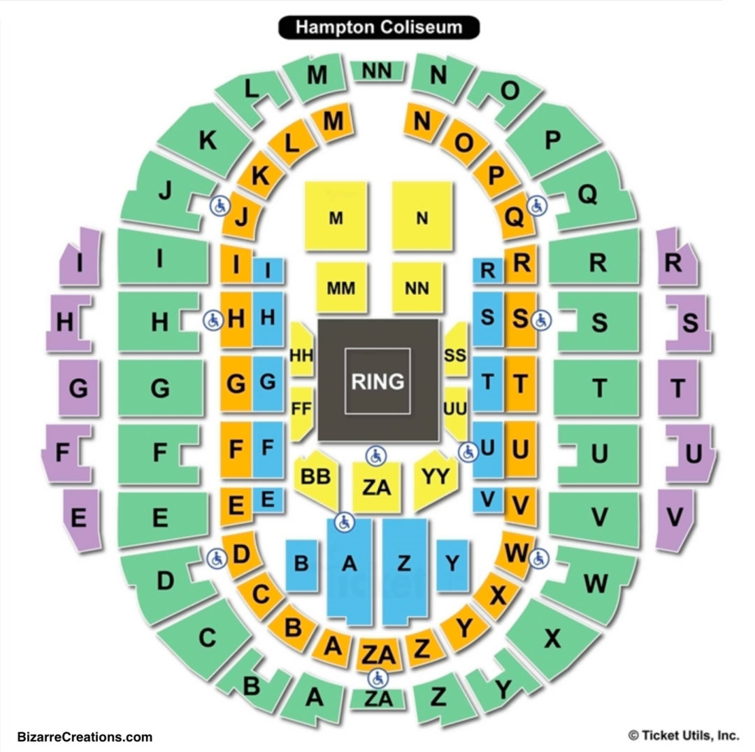 Hampton coliseum seating chart seating charts tickets
