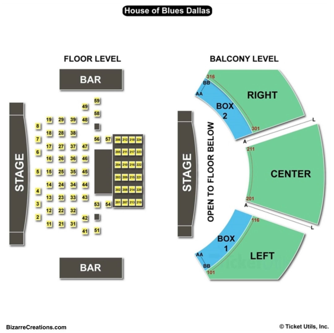 House of blues dallas seating chart seating charts tickets