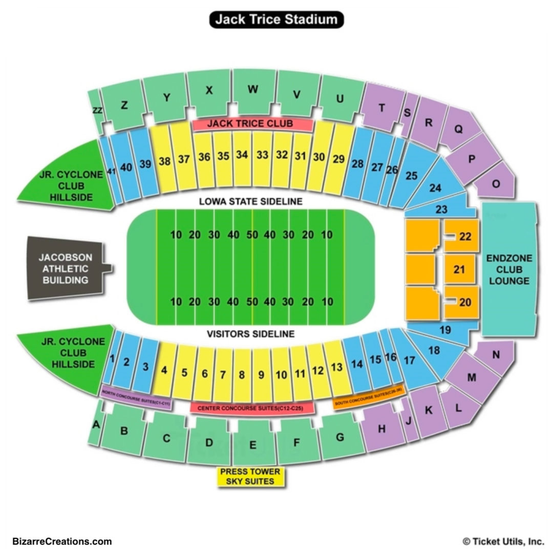 Jack Trice Stadium Seating Chart Seating Charts Tickets