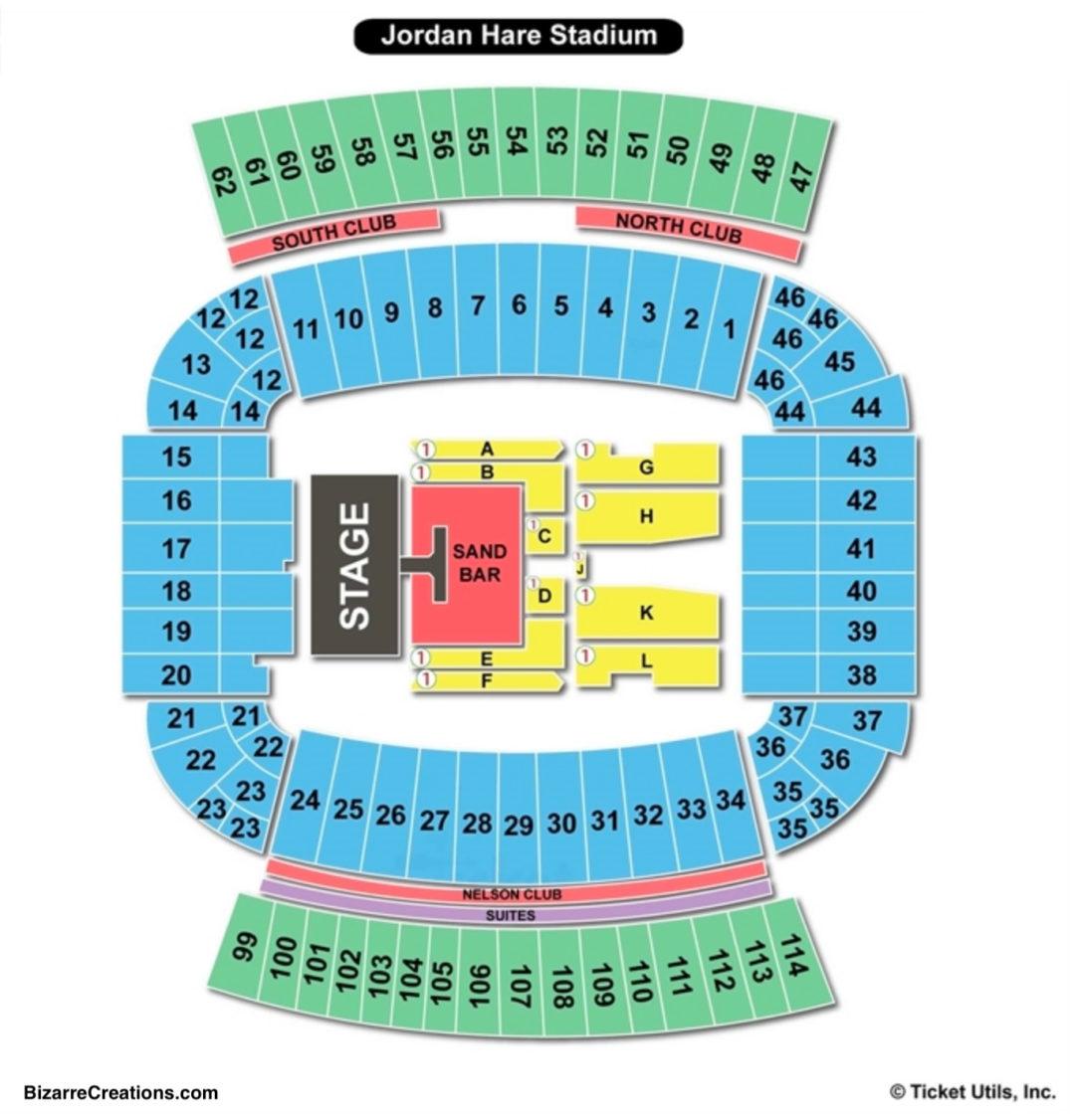 Jordan hare stadium seating chart seating charts tickets