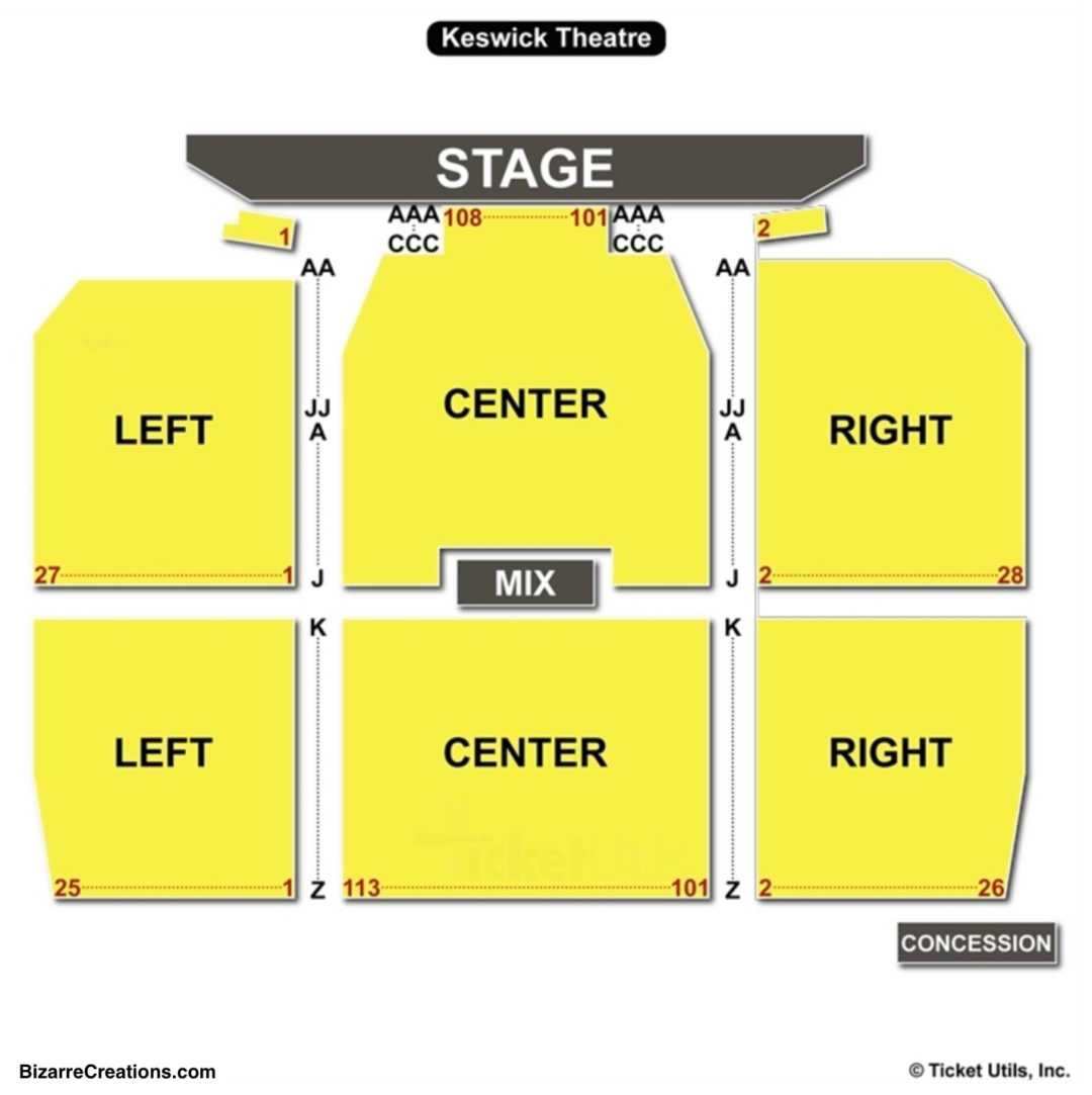 Keswick theatre seating chart seating charts tickets