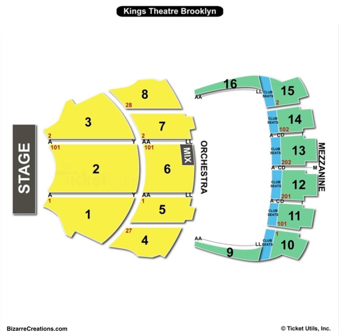 Kings Theatre Seating Chart Seating Charts Tickets