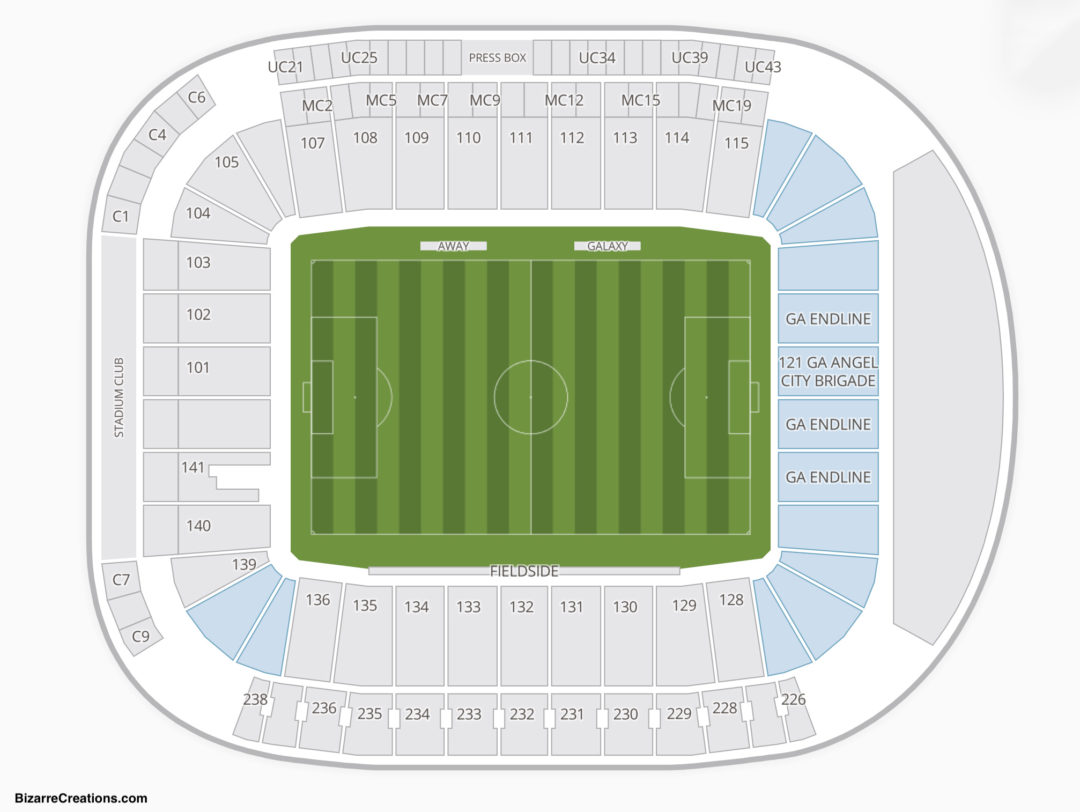 La galaxy seating chart seating charts tickets