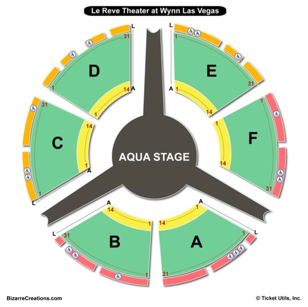 Le Reve Theater At Wynn Las Vegas Seating Chart The Dream