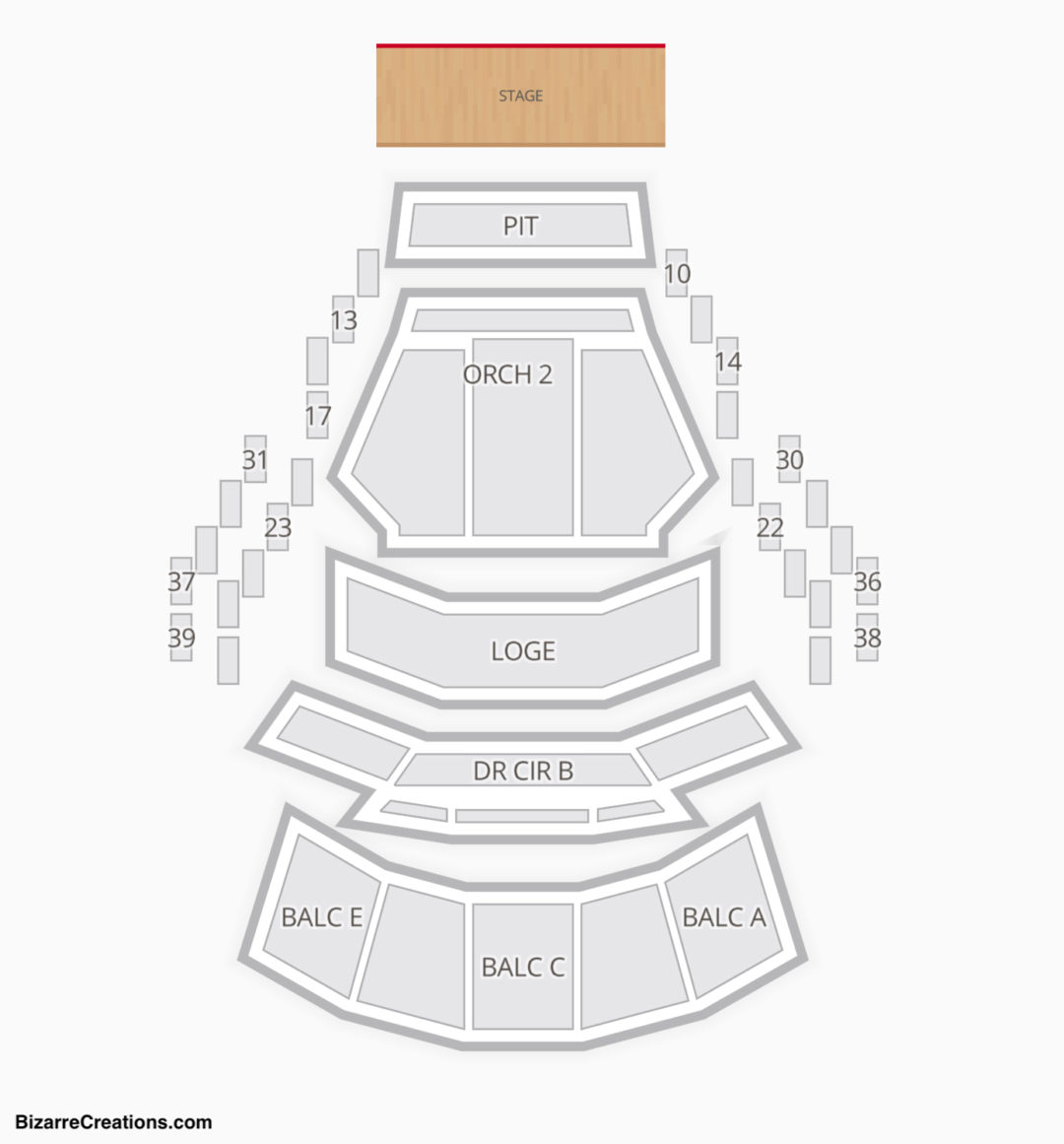 Mahaffey theater seating chart seating charts tickets