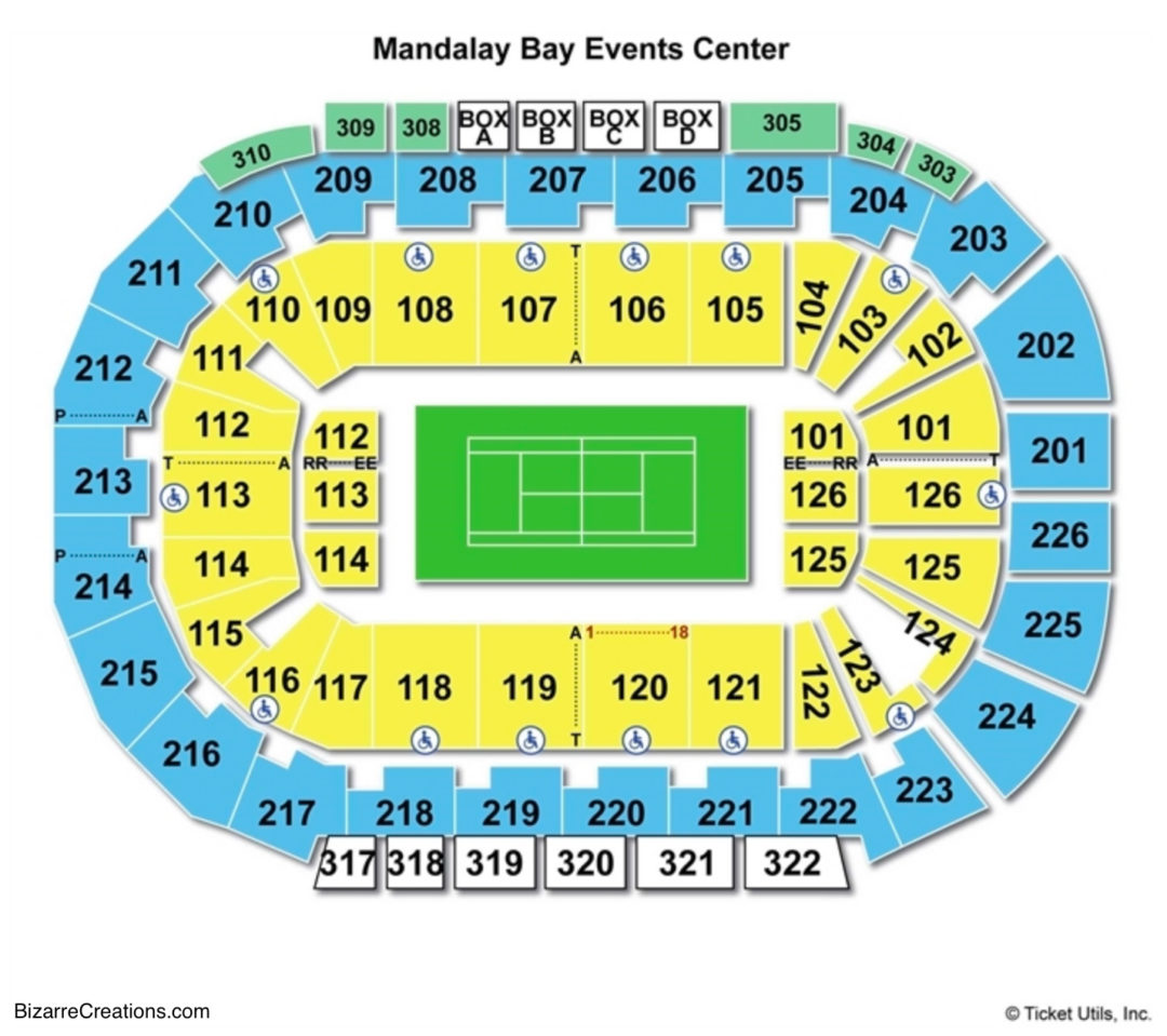 Upcoming Ufc Events 2018 >> Mandalay Bay Events Center Seating Chart   Seating Charts & Tickets