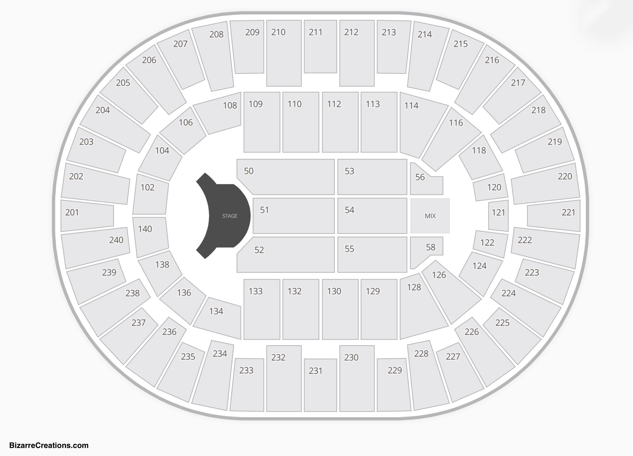 North Charleston Coliseum Seating Chart Seating Charts
