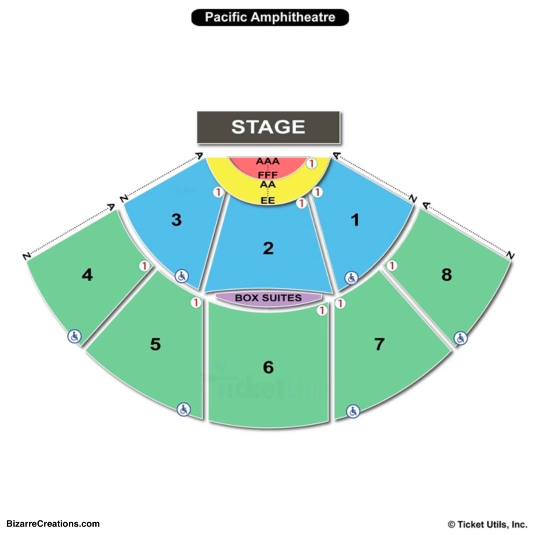 Pacific Amphitheater Seating Chart Home Plan