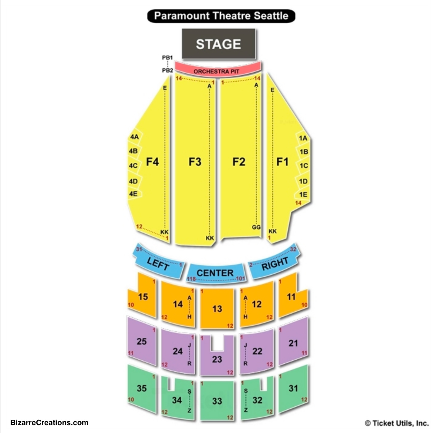 Paramount Theatre Seating Chart Seattle Seating Charts Tickets