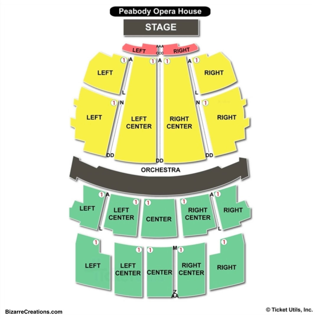 Peabody Opera House Seating Chart