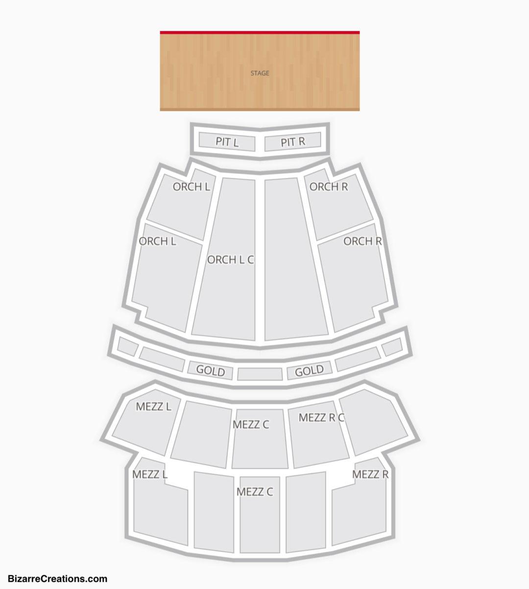 Peabody Opera House Seating Chart