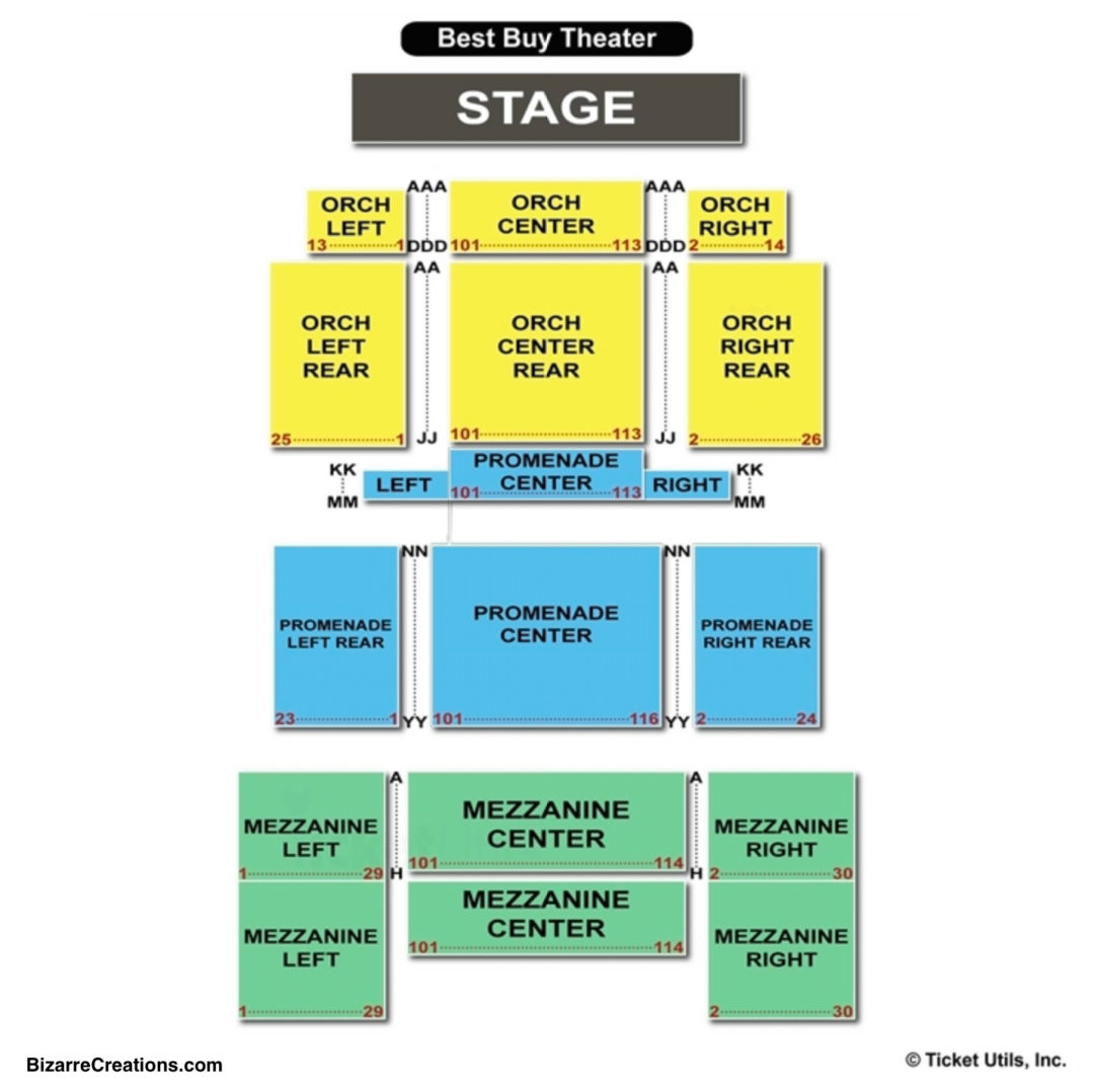 Playstation Theater Seating Chart Seating Charts Tickets