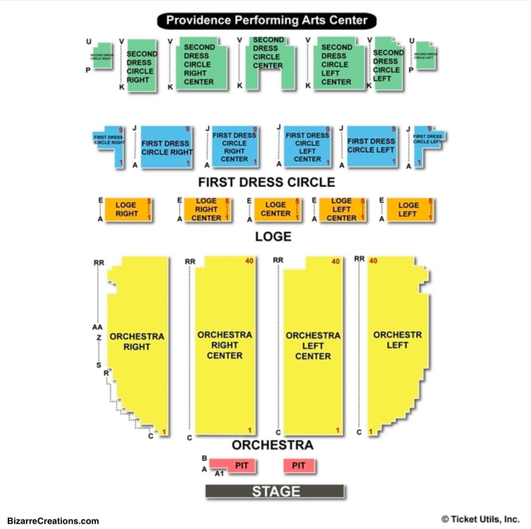 Providence Performing Arts Center Seating Chart