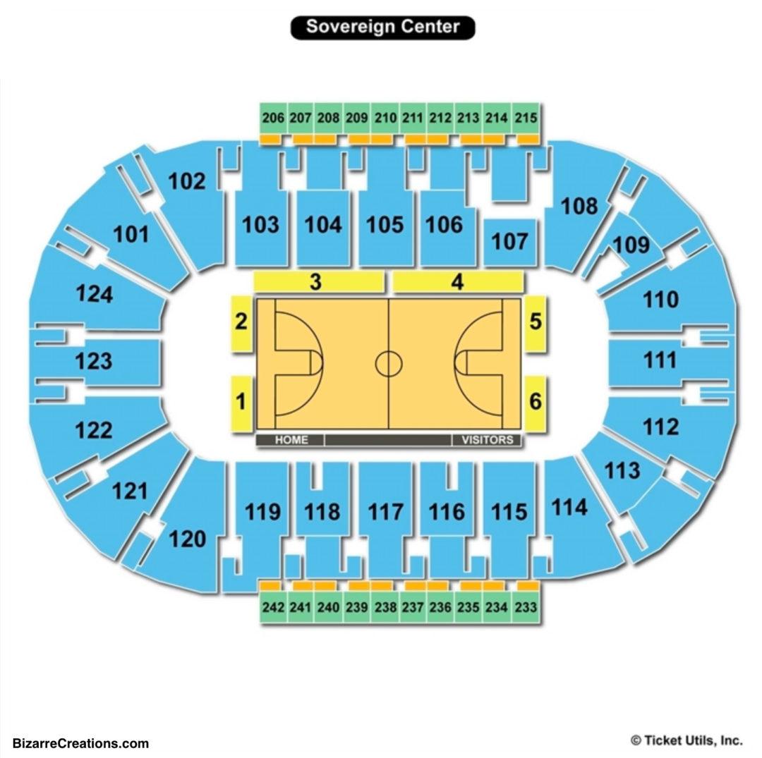 Sandander Arena Seating Chart Basketball