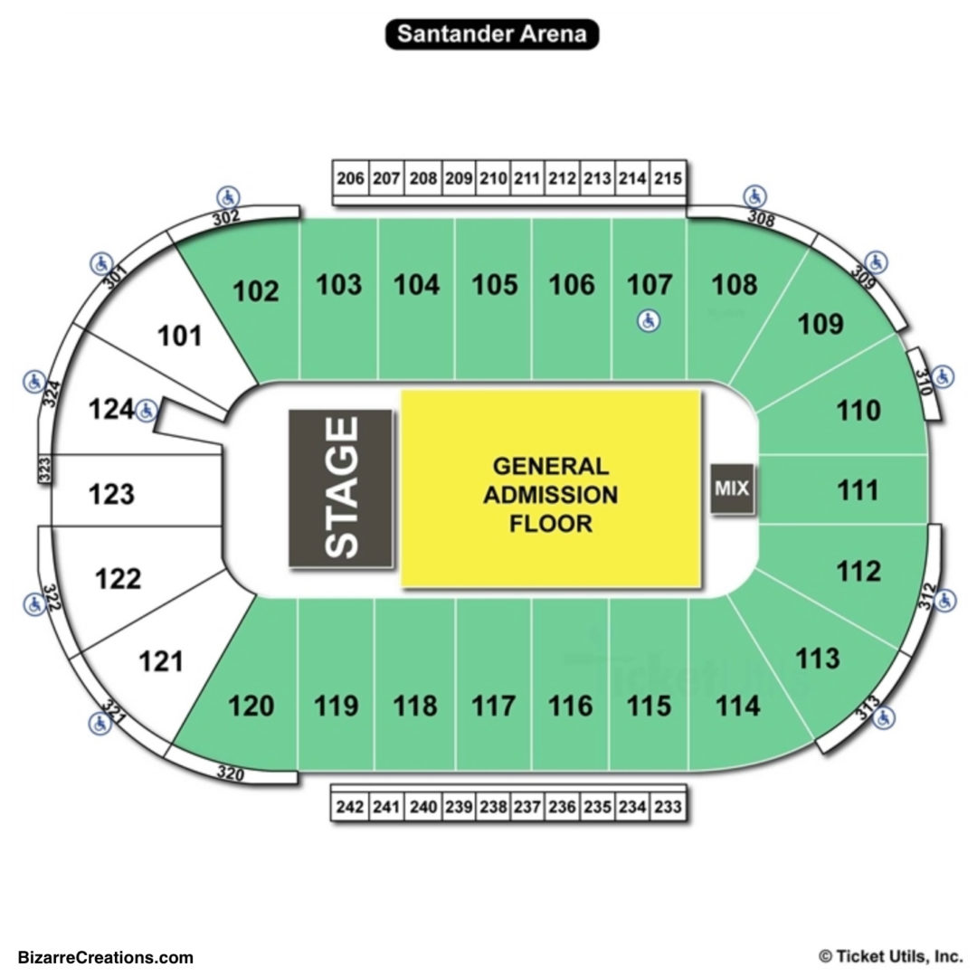 Santander Arena Seating Chart Concert