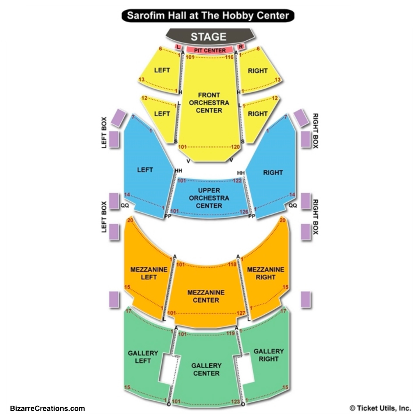 Hobby center seating chart seating charts tickets