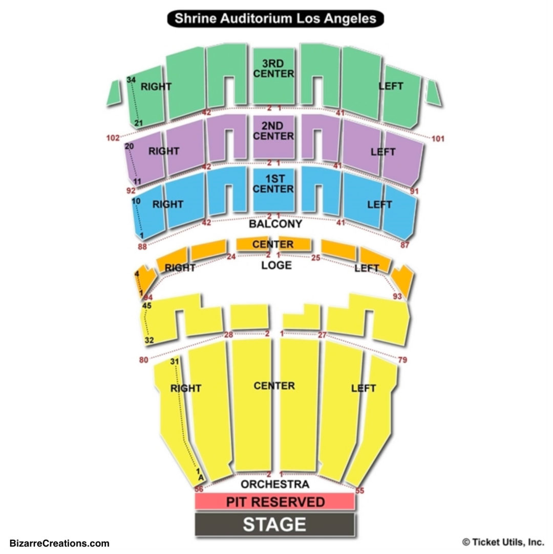 Shrine auditorium seating chart seating charts tickets