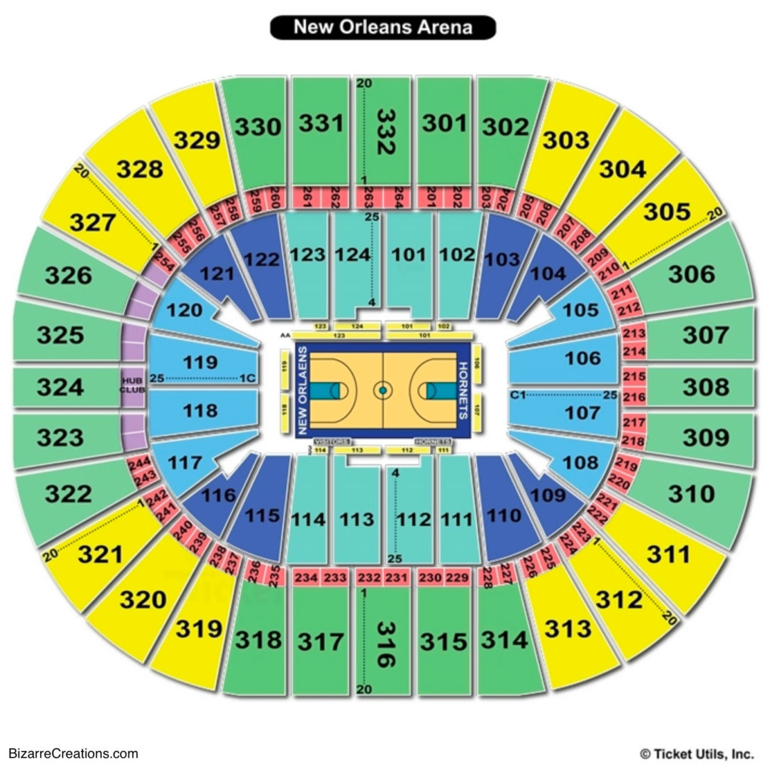 Smoothie king center seating chart seating charts tickets