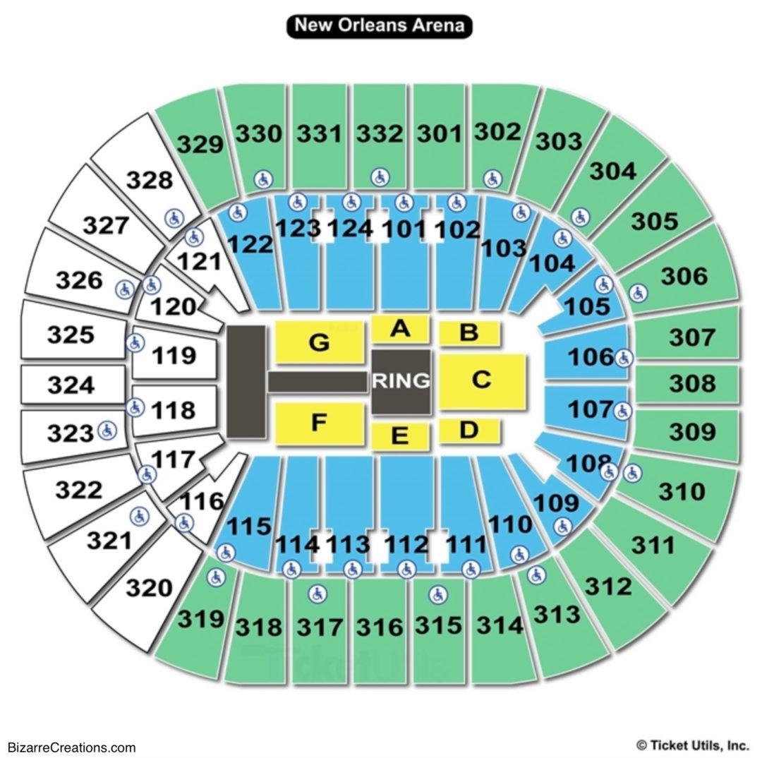 Smoothie King Center Wwe Seating Chart
